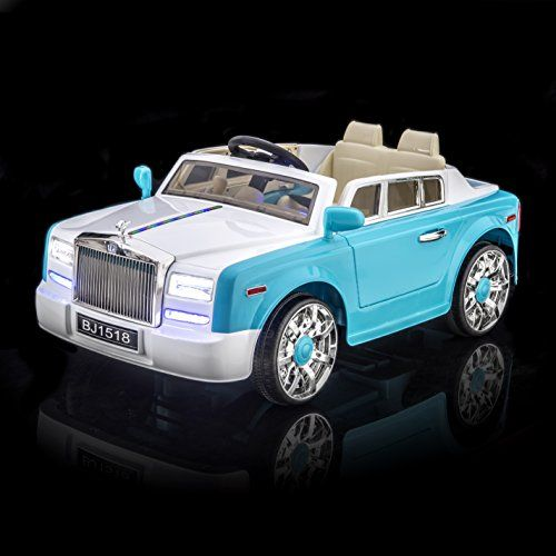 Sportrax Rolls Royce Phantom Style Luxury Kids Ride On Car Battery Powered Remote Control Wfree Mp3 Player Blue Kids Ride On Car Rolls Royce Phantom