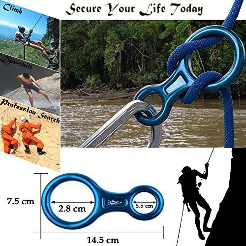 DidaDi 35 Kn Big Figure 8 Descender Stainless Steel Rappel Gear Downhill Ring Equipment Rock Climbing Belaying Device For Outdoor Recreation Or Search And