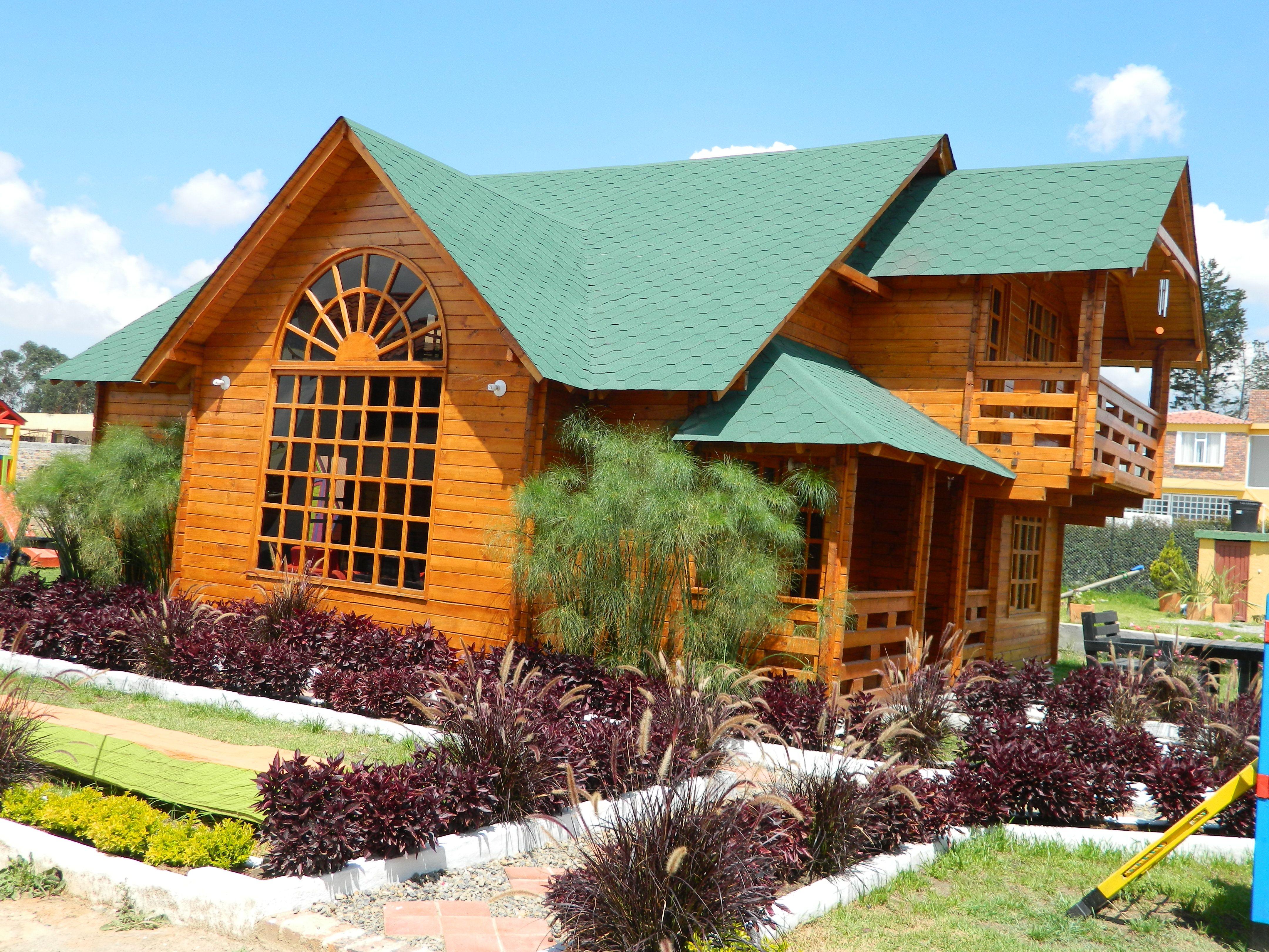 Los Chanos Casas De Madera Nuestra Casa Modelo En Km 6 Via  # Muebles Rusticos Duitama Boyaca