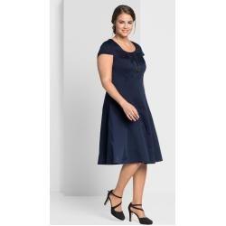 Große Größen: Bahnenkleid in A-Linie, marine, Gr.46 SheegoSheego #hochzeitskleiderhäkeln