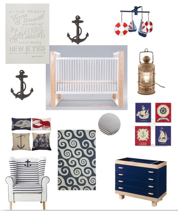 nautical nursery ideas - like the mobile