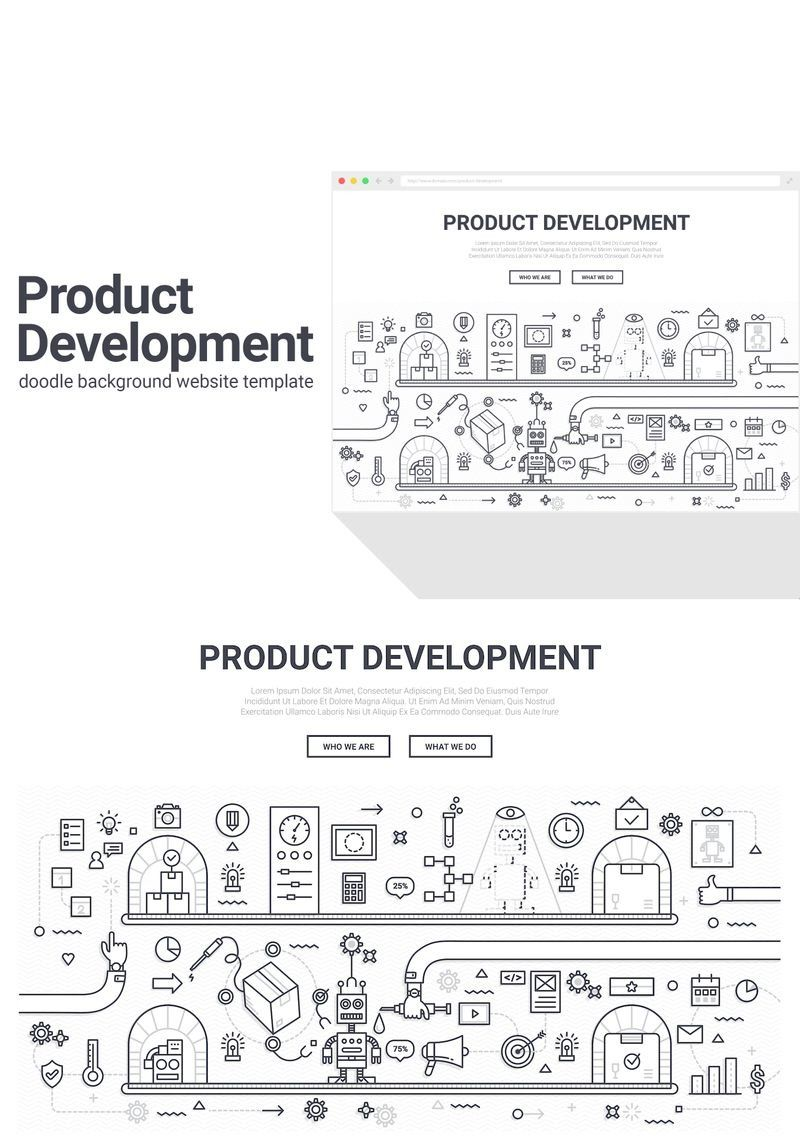 Doodle Product Development Background 90577 Doodle