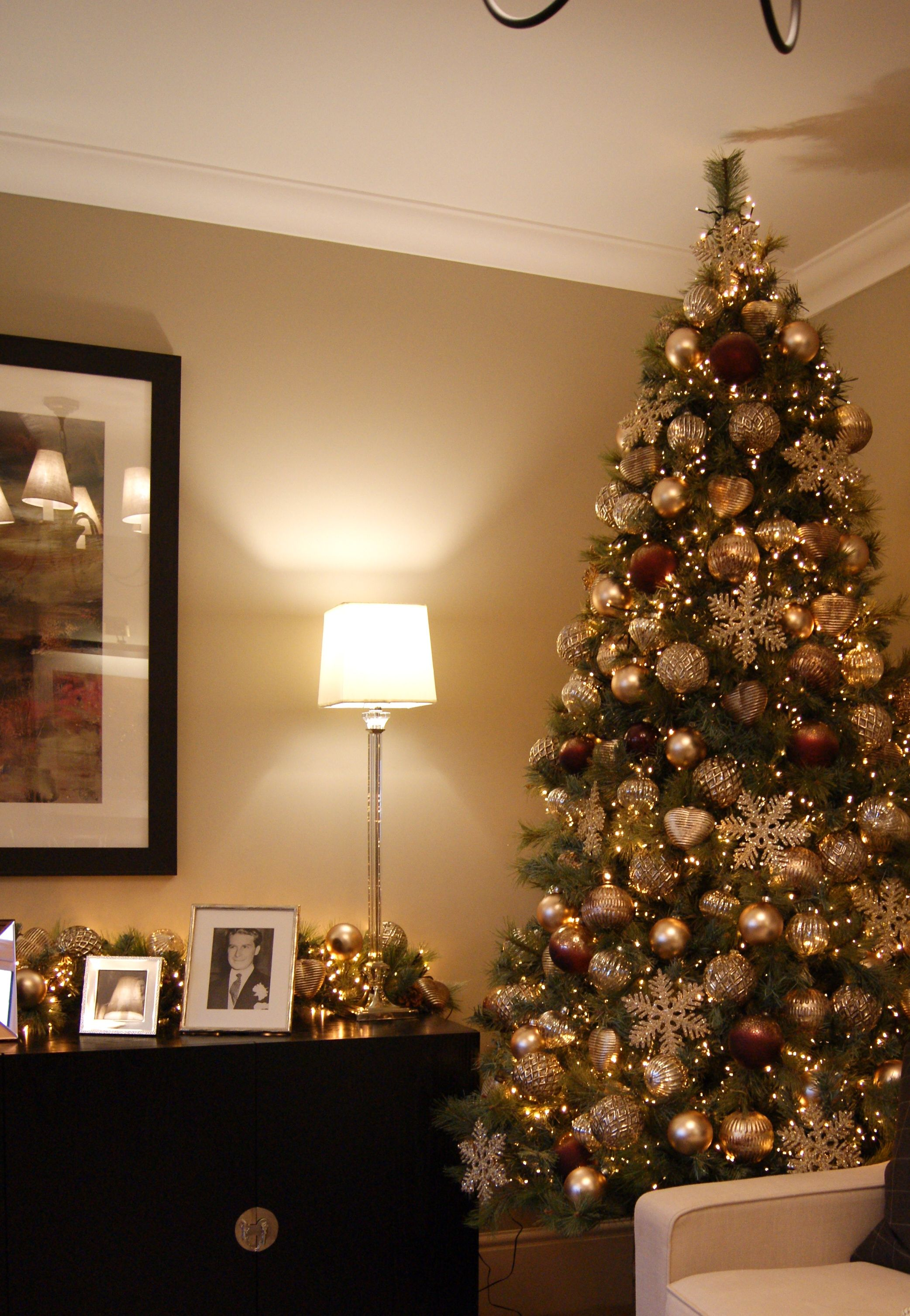 This Large Tree Is Full Of Lights And Baubles To Create A Beautiful Festive Statement Piece Large Christmas Tree Design Cashmere Christmas Tree Holiday Decor