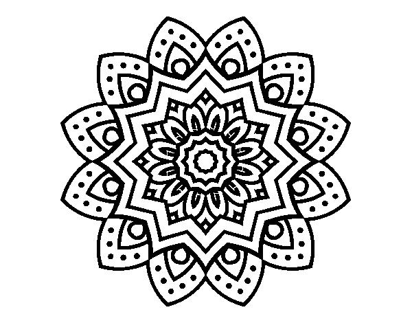 Simple Mandala For Mental Concentration Coloring Page Coloringcrew Color Print 7 5710 Cedrqu Org Simple Mandala Mandala Coloring Pages Mandala Coloring