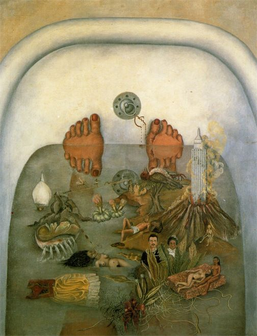 """* Frida Kahlo """"What I Saw in the Water or What the Water Gave Me"""" 1938"""