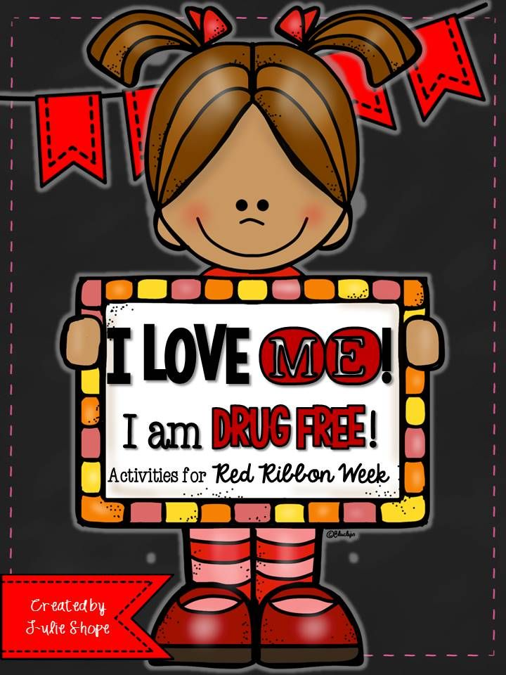 I Love Me I Am Drug Free Red Ribbon Week Activities Red