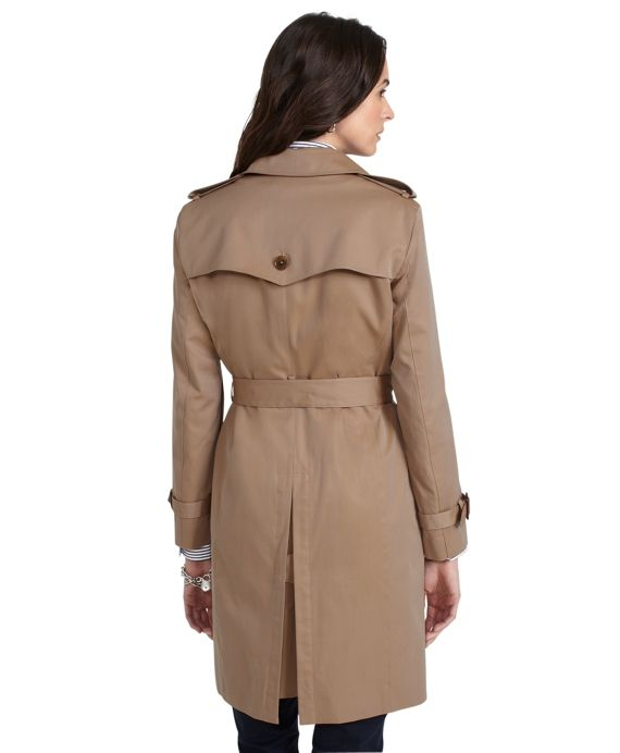 Petite Cotton Trench CoatKhaki