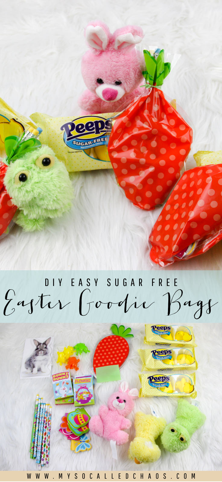 Diy pinterest easter gift bags sugar intake and goodie bags diy easy sugar free easter goodie bags with sugar free peeps want to give a cute easter gift without upping the sugar intake have a little diabetic who negle Image collections