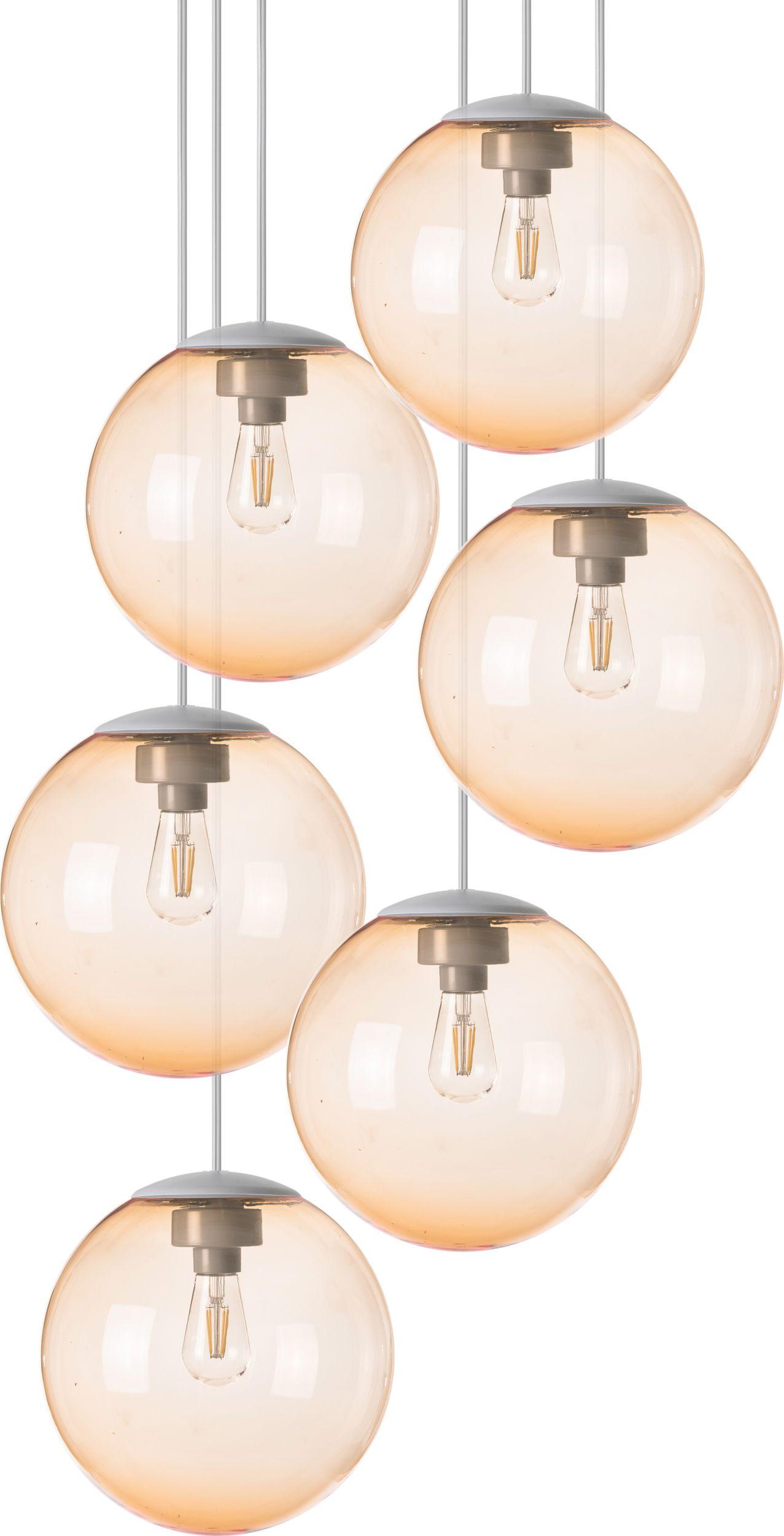 Lampa Wiszaca Spheremaker 6 Jasnopomaranczowa
