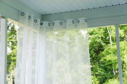 Wire Cable Curtain Rods Porch Curtains Outdoor Curtains For
