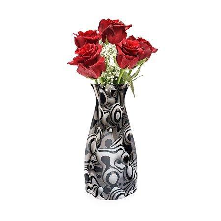 New Modgy Plastic Expandable Modern Art Decor Flower Vase Werd Black /& White