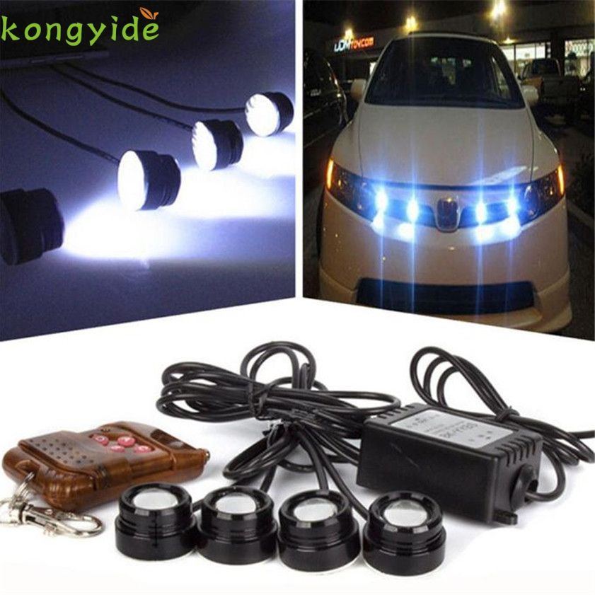 Strobe Lights For Cars Prepossessing High Quality 4In1 12V Led Car Emergency Strobe Lights Drl Wireless Inspiration