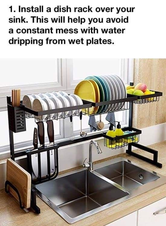Pin By Irish Kid On Home Dish Rack Drying Sink Dish Rack