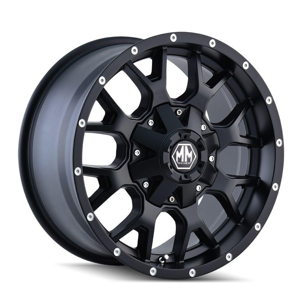 17 Mayhem Warrior Black Wheel 17x9 8x6 5 8x170 18mm Ford Chevy