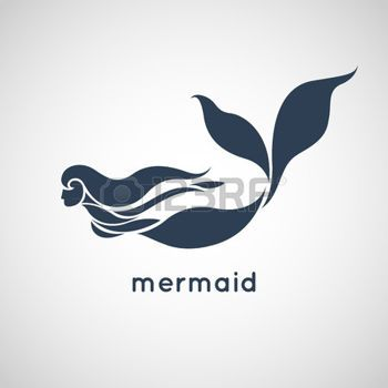 mermaid silhouette: mermaid logo vector Illustration