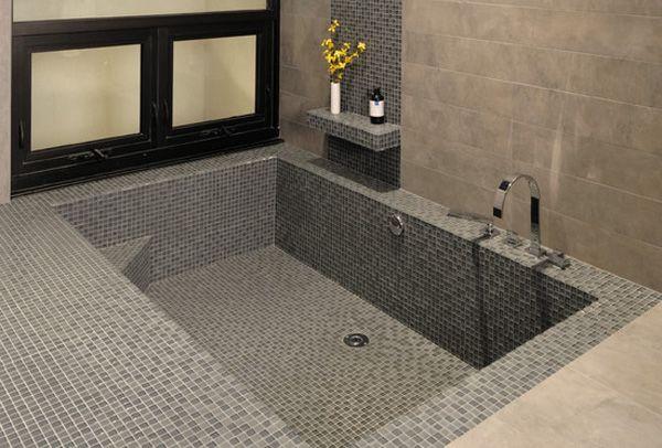 Bath #Remodel: Add A Sunken #bathtub To Your Space!