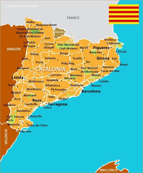 Map Of Catalonia Viajar Por Espana Guia Turistico Viajes