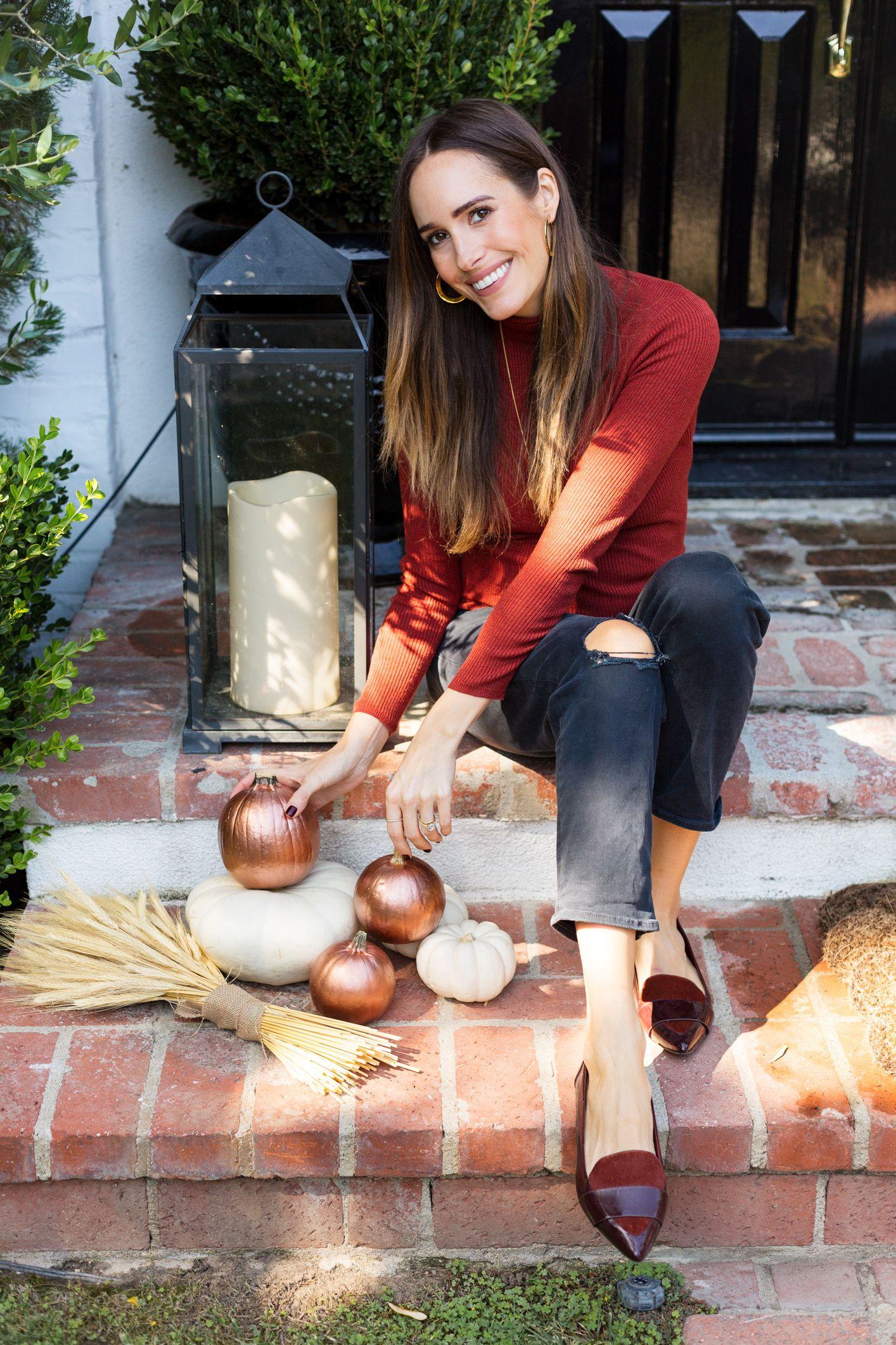 A Chic Twist On Halloween: Copper Pumpkins