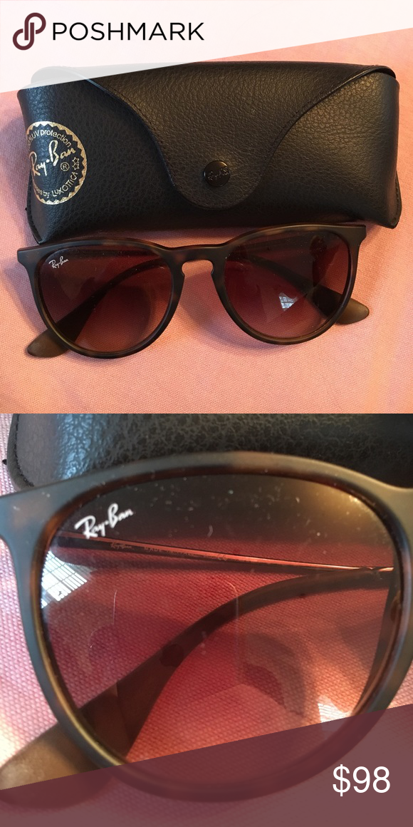 "Rayban sunglasses Brown ""Erika"" authentic rayban sunglasses. In excellent condition. Worn only a few times! Ray-Ban Accessories Sunglasses"