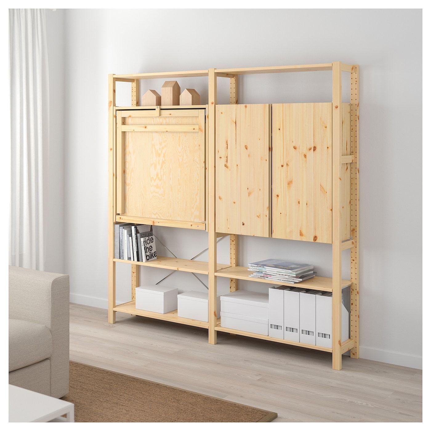 IVAR 2 Element Aufbewahrung m Klapptisch IKEA Österreich