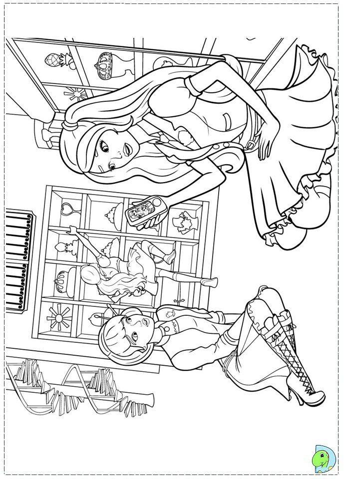Barbie Princess Charm School Coloring Pages : barbie, princess, charm, school, coloring, pages, Barbie, Princess, Charm, School, Coloring, Pages, Google-søgning, Pages,, Books,
