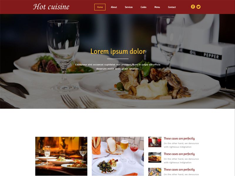 Hot cuisine is an interesting and modern free bootstrap restaurant hot cuisine is an interesting and modern free bootstrap restaurant template for a hotelrestaurant maxwellsz