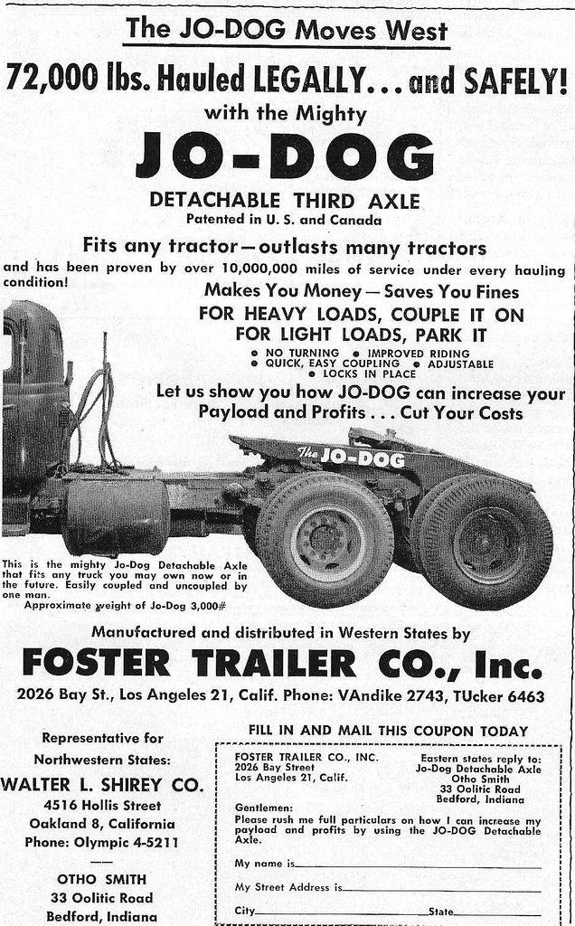 Jo Dog Converter 1955 Vintage Trucks Dump Trucks Big Rig Trucks