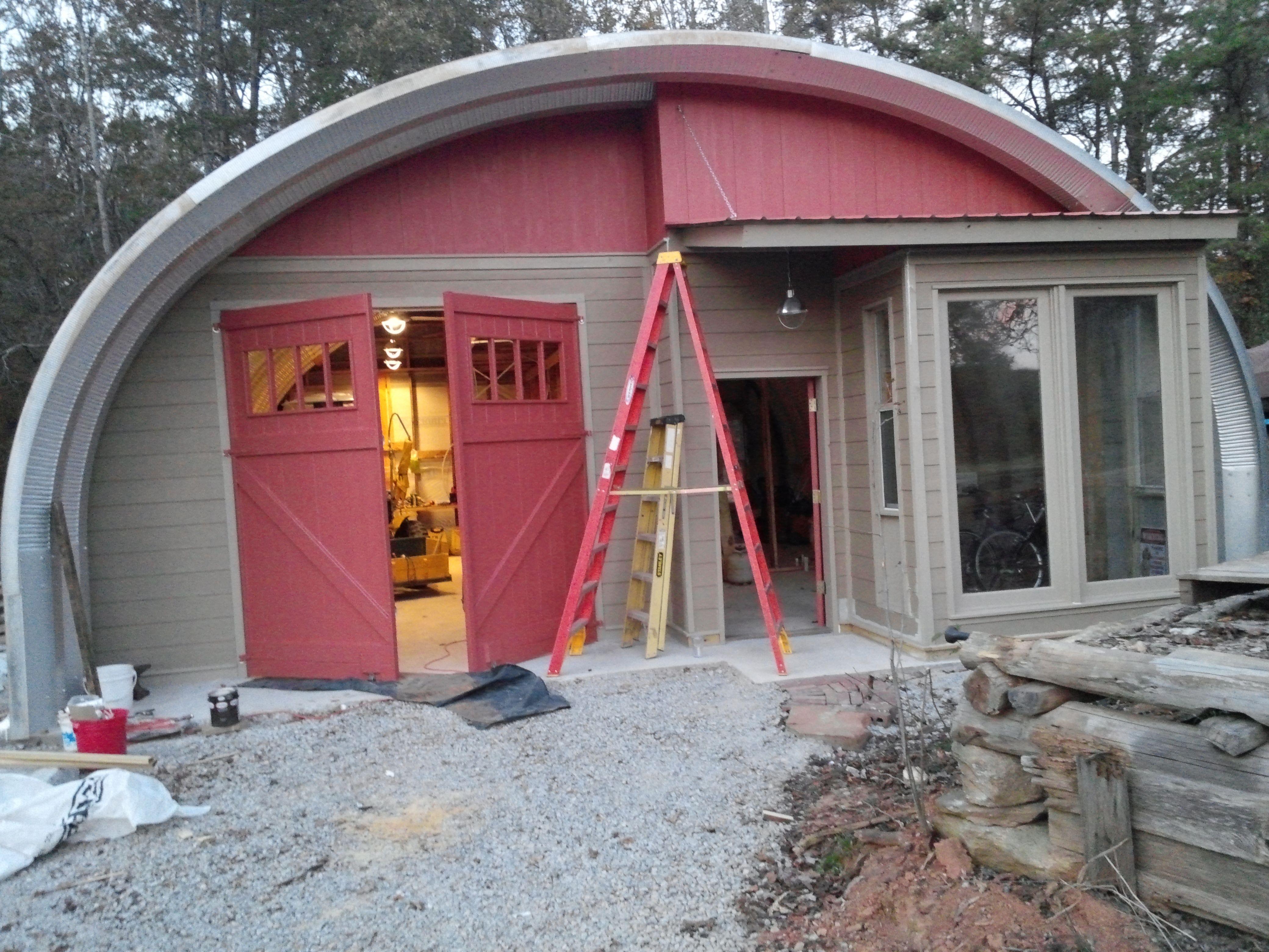 Round Top Workshop And Cabin Metal Buildings Building