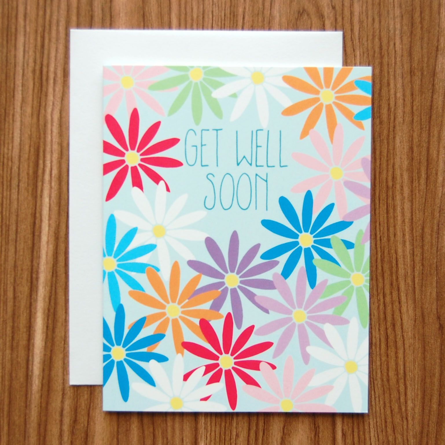Card Making Ideas For Get Well Cards Part - 36: Get Well Soon Daisies Card