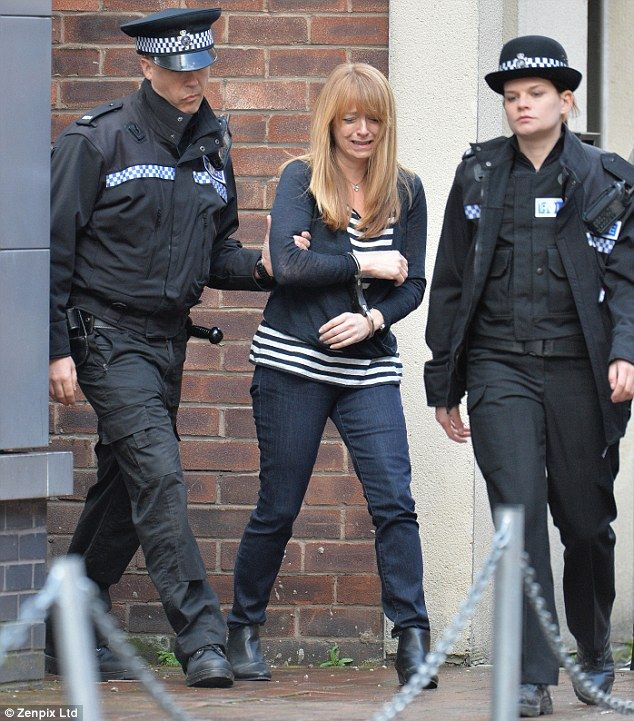 Justice will be served: Jenny Bradley (Sally Ann Matthews) is seen getting arrested after ...