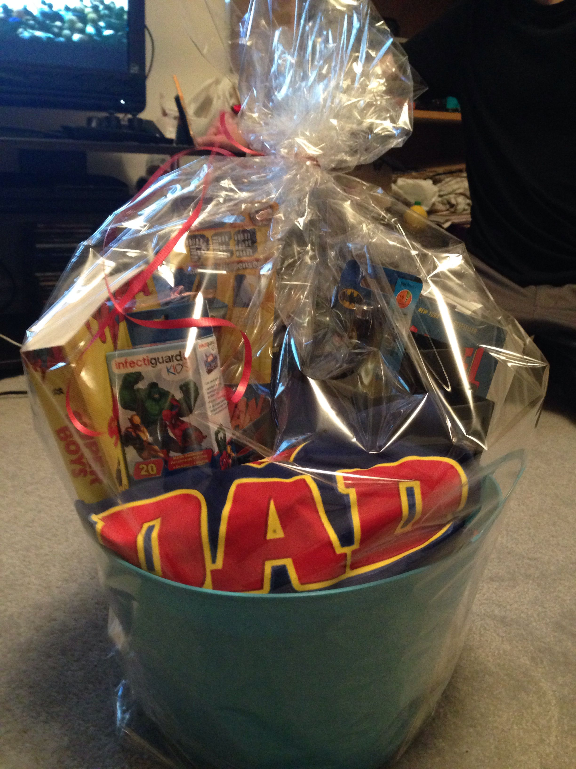 Father's Day gift basket wrapped
