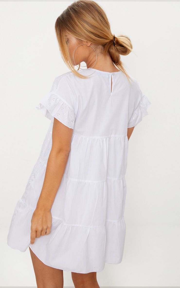 White Broderie Anglaise Smock Dress In 2021 Cotton Dress Summer Smock Dress White Dresses Uk [ 1180 x 740 Pixel ]