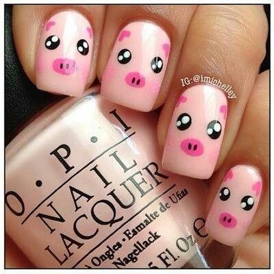 Varken - Pig nail Art
