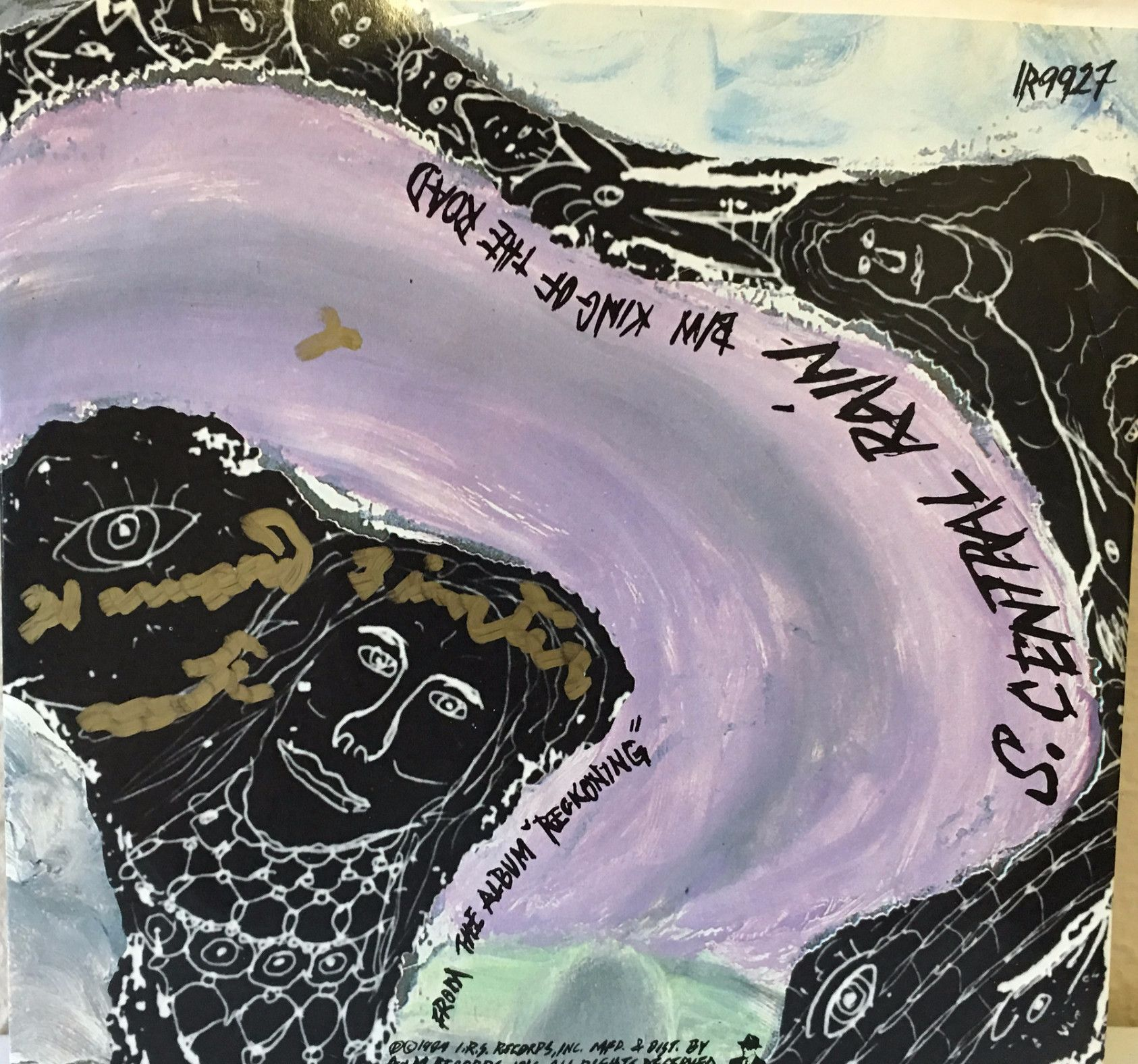 """Howard Finster R.E.M. 45rpm Single """"S. Central Rain (I'm Sorry)/King of the Road"""""""