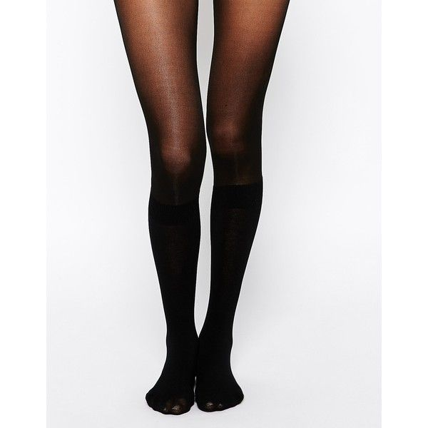31d99ebc7 Pretty Polly Secret Sock Knee High Tights ( 4.10) ❤ liked on Polyvore  featuring intimates