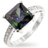 Diamond Engagement Ring Mystic Topaz