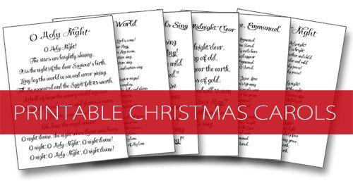 Christmas Carol Printable: 101 Days Of Christmas: Printable Christmas Carols
