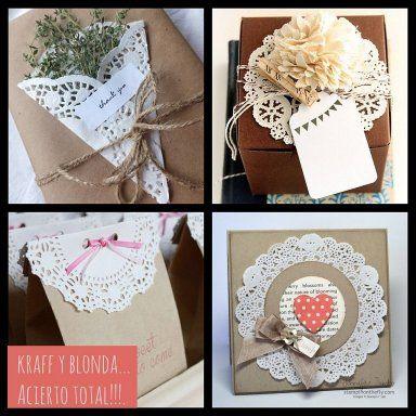 CON BLONDAS. Ni te imaginas la cantidad de cosas maravillosas que se pueden hacer con ellas. Date un vuelta por aquí (CLICK), y te enseñaremos cómo hacer empaquetados bonitos con ellas, y hasta incluso flores.