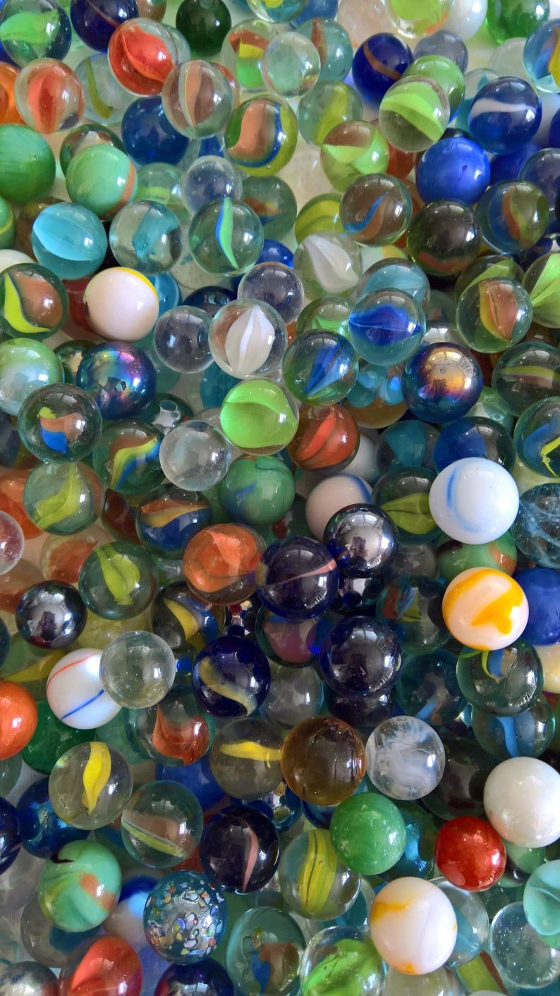 Vintage Glass Marbles Set Of 10 Retro Classic Americana Childhood Game Hobby Pastime Jewelry Jar Filling Craft Knick Knacks Trinkets In 2020 Glass Marbles Money Making Crafts Puzzle Art