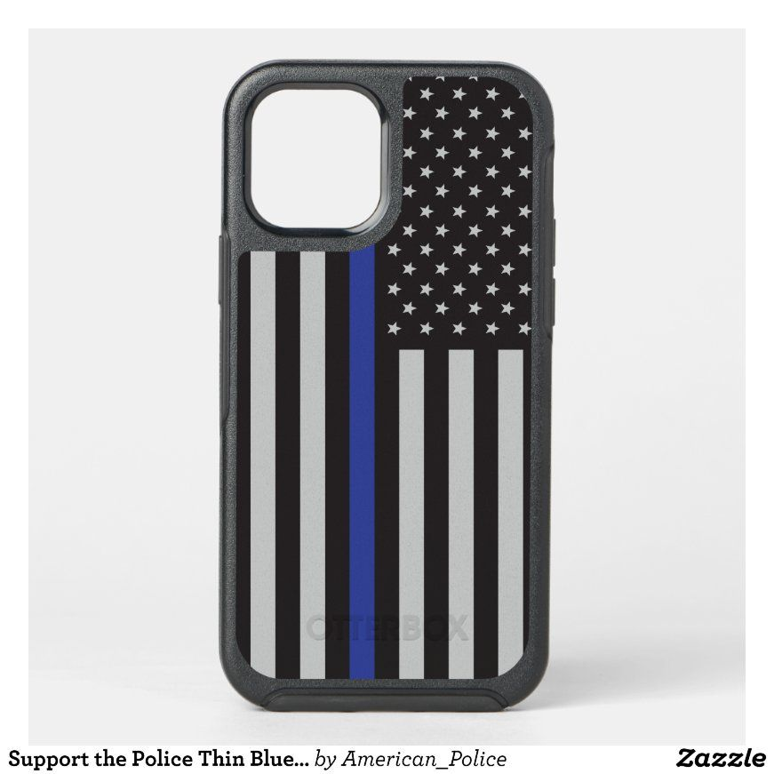 Support The Police Thin Blue Line American Flag Otterbox Iphone Case Zazzle Com Iphone Cases Otterbox Iphone Cases Otterbox Iphone