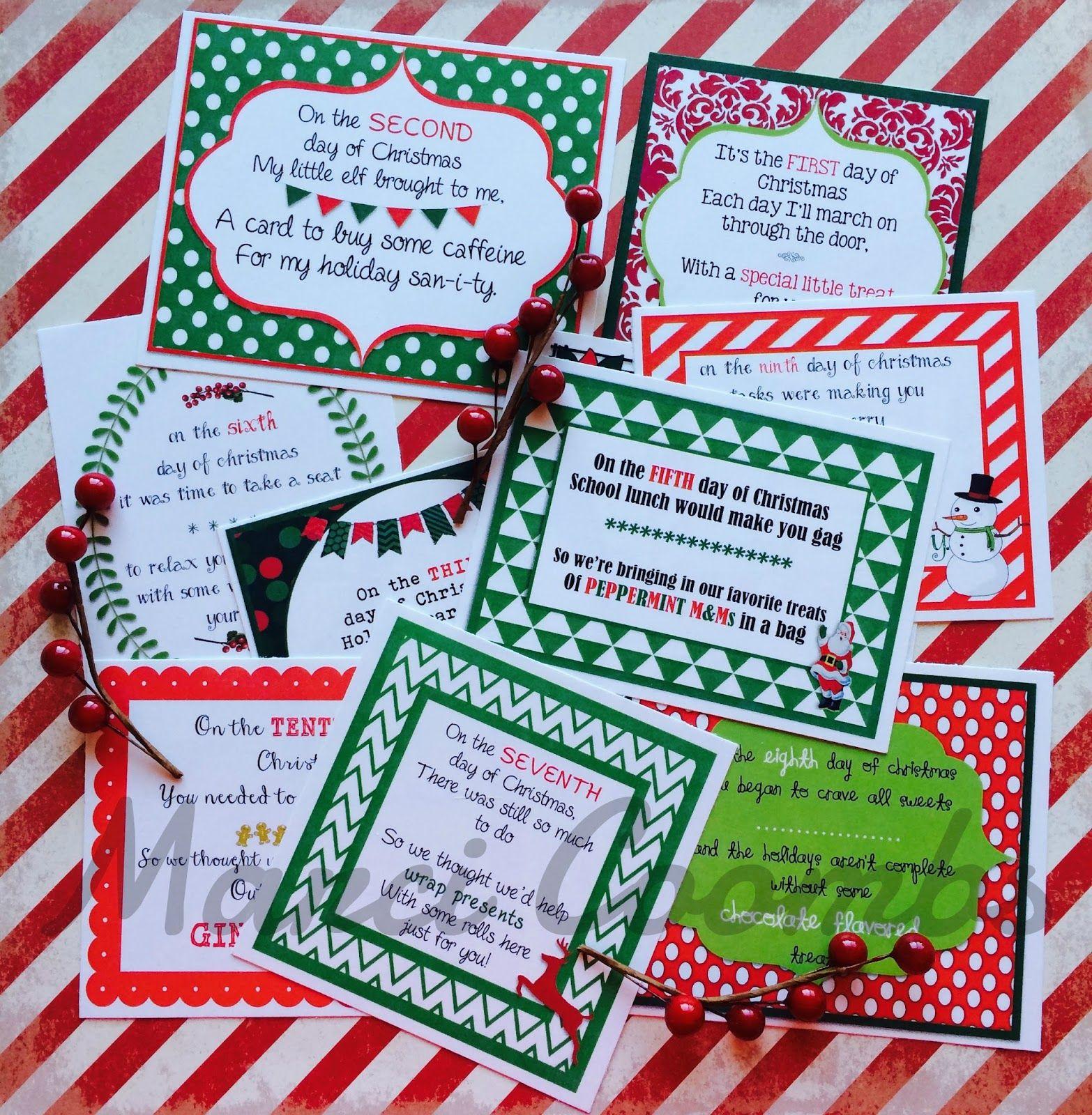 Marci Coombs: 12 Days of Christmas Printable Tags + other Christmas ...