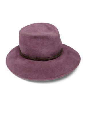 ERIC JAVITS Anette Rabbit Fur Felt   Leather Fedora.  ericjavits ... 7505473a7f8e
