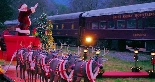 Review Of The Polar Express Train Ride Great Smoky Mountain Railroad In Bryson City Nor Polar Express Train Polar Express Train Ride Christmas Things To Do
