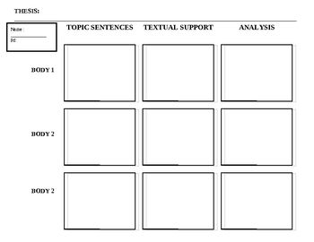 this one page document helps students organize ideas for a five  this one page document helps students organize ideas for a five paragraph essay it includes