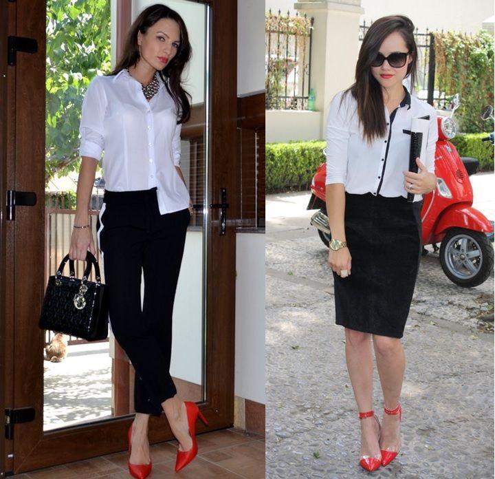 8dde4ec0e looks meia calça preta sapato vermelho - Pesquisa Google
