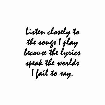 Listen to the words i say lyrics