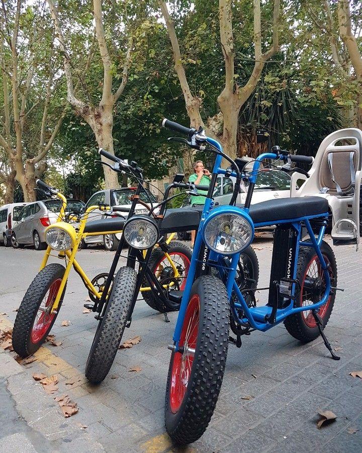 All good things come in threes!  #ebikes #ebikeshop #unimoke #utilitybike #urbandrivestyle #instabikes #fatwheelbike #palmademallorca #palma #mallorca #mallorcagram #three #threes #bikelifestyle #hittheroad