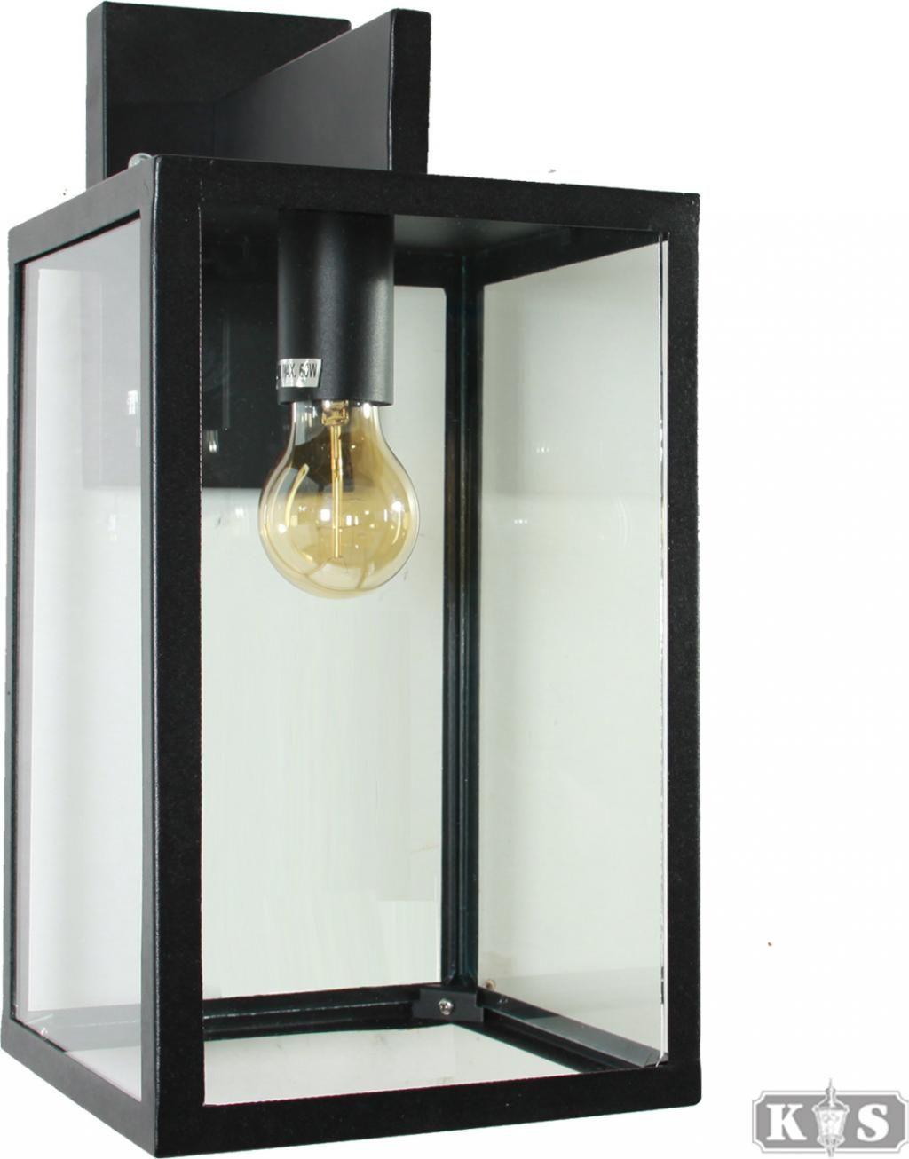 Buitenlamp Hampton - Wandlamp - RVS - Zwart - KS Verlichting ...