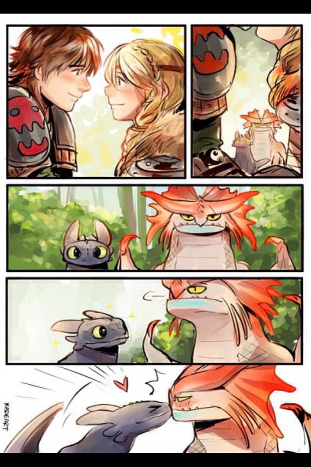 Aww toothless and cloudjumper are so cute