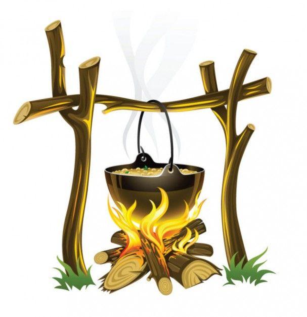 67 Cartoon Cooking Fire Campfire Drawing Camper Art Fire